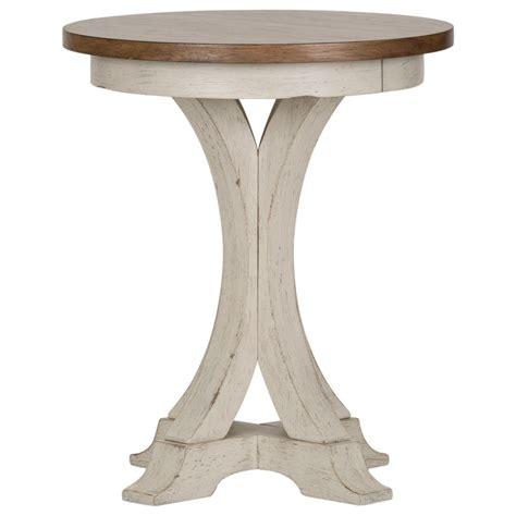 Farmhouse-Round-Side-Table