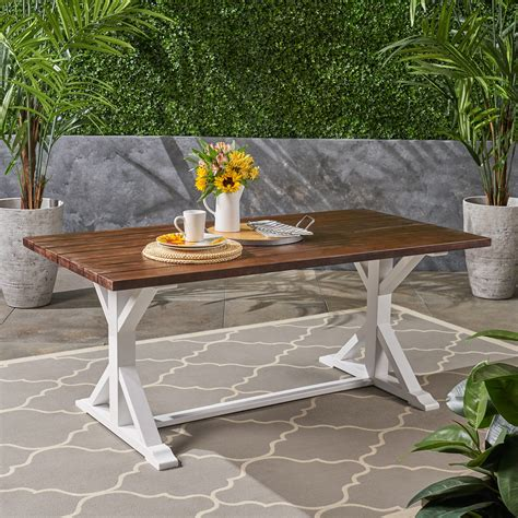 Farmhouse-Rustic-Wood-Dining-Table