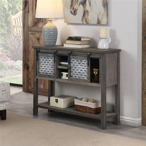 Farmhouse-Style-Barn-Door-Console-Table