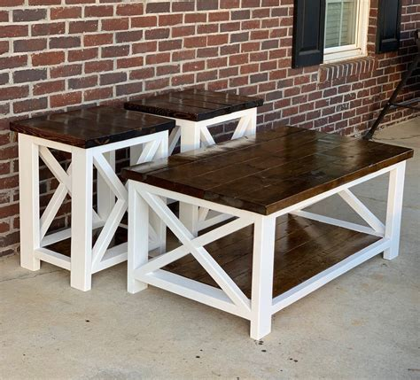 Farmhouse-Style-Coffee-And-End-Tables