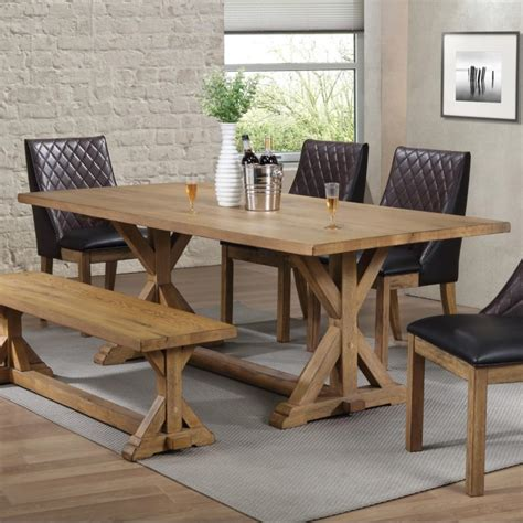 Farmhouse-Style-Dining-Table-With-Bench
