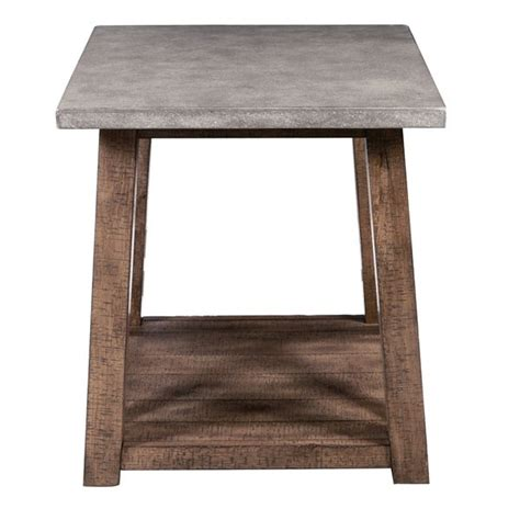 Farmhouse-Style-Distressed-End-Table