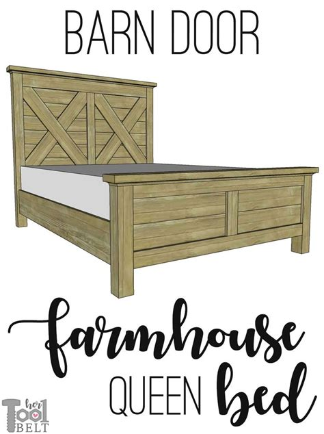 Farmhouse-Style-Queen-Bed-Plans