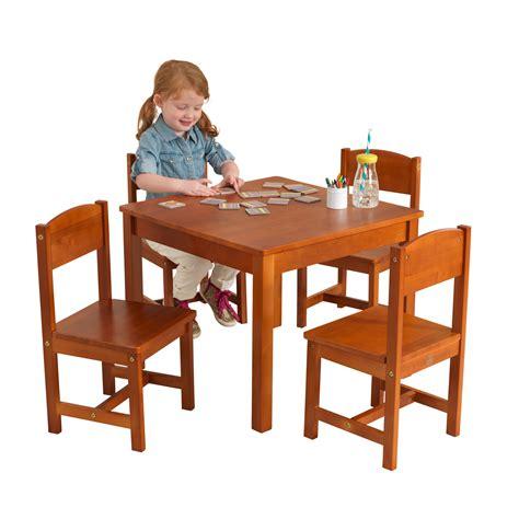 Farmhouse-Table-4-Chair-Pecan-Kidkraft
