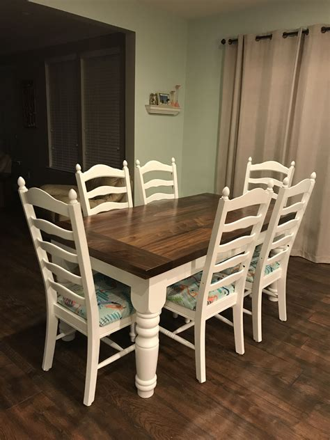 Farmhouse-Table-And-Ladderback-Chairs
