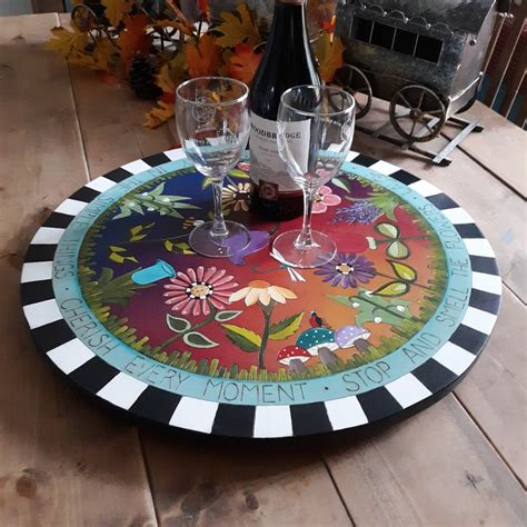 Farmhouse-Table-Lazy-Susan
