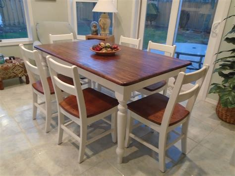 Farmhouse-Table-White-Table-Stained-Chairs