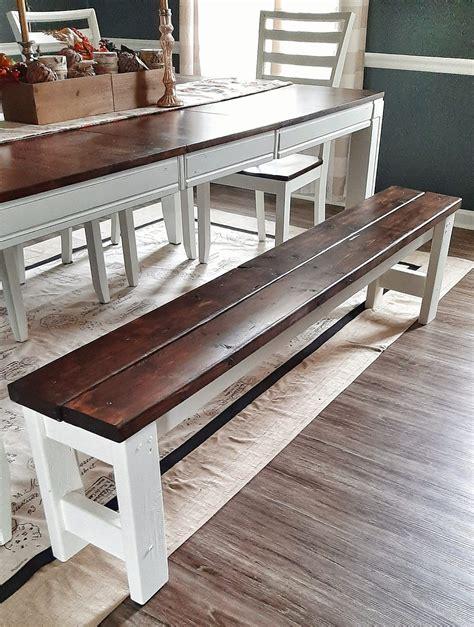 Farmhouse-Table-With-Bench-Diy