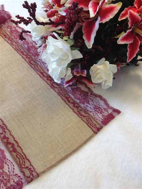 Farmhouse-Table-With-Burgandy-Runner