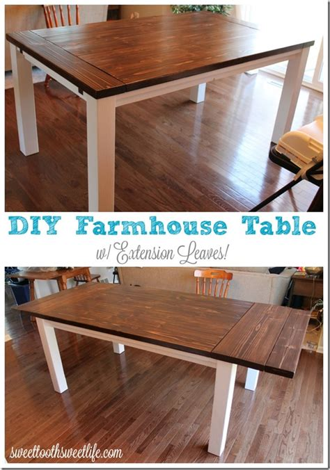 Farmhouse-Table-With-Leaf-Plans