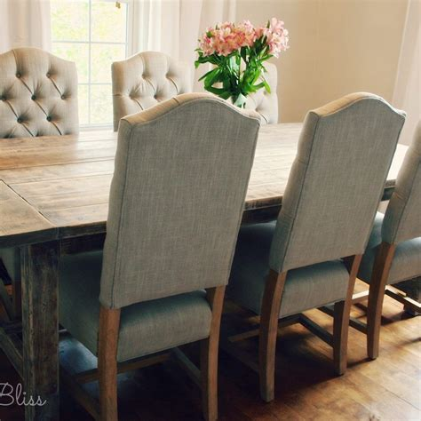 Farmhouse-Table-With-Tufted-Chairs