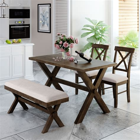 Farmhouse-Table-With-Upholstered-Chairs
