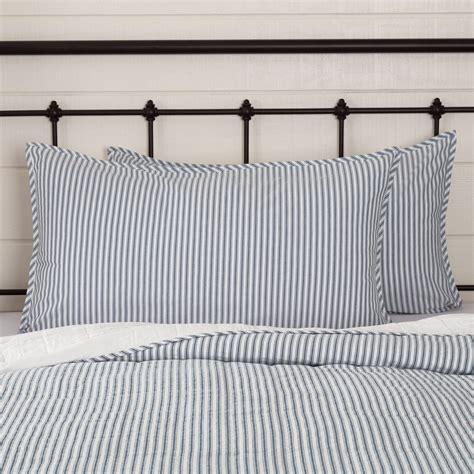 Farmhouse-Ticking-Stripe-Bedding
