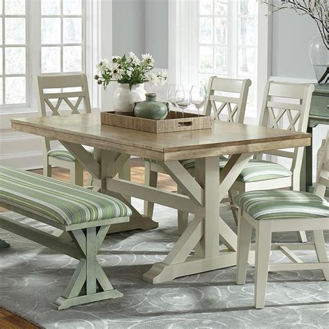 Farmhouse-Trestle-Dining-Table-Set