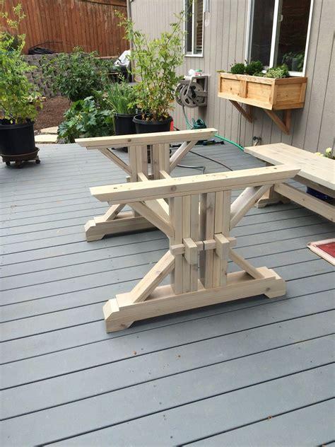 Farmhouse-Trestle-Table-Diy-Kit