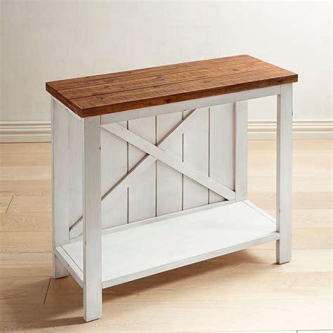 Farmhouse-White-Small-Console-Table