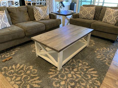 Farmhouse-X-Coffee-Table
