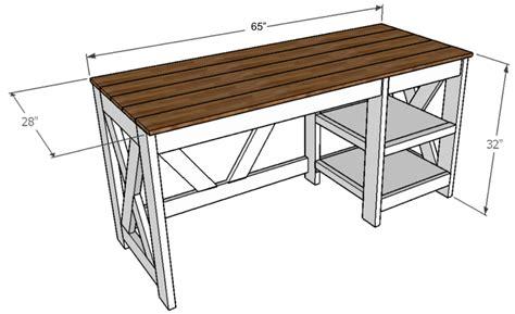 Farmhouse-X-Office-Desk-Plans