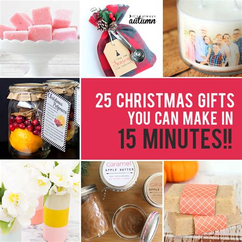 Fast Diy Gifts