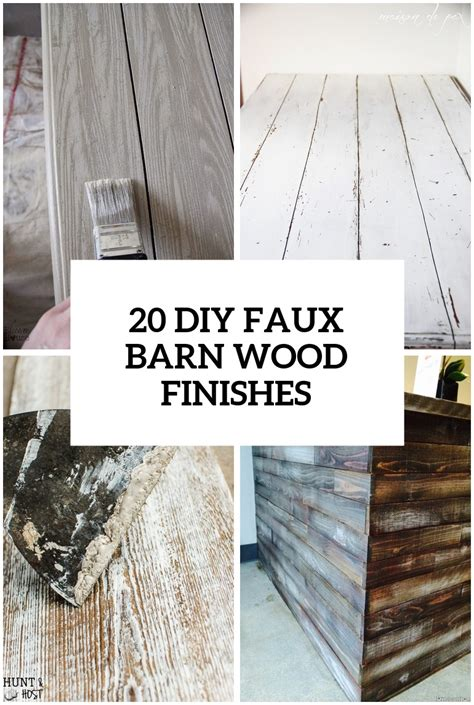 Faux Barn Wood Diy Picture