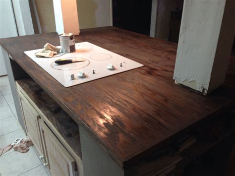 Faux Butcher Block Countertop Diy