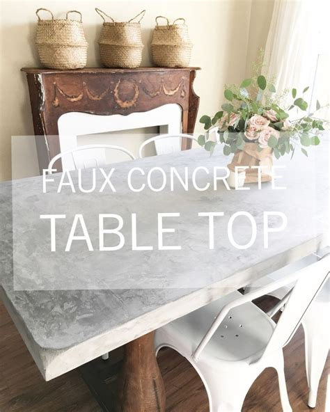 Faux Cement Table Top Diy