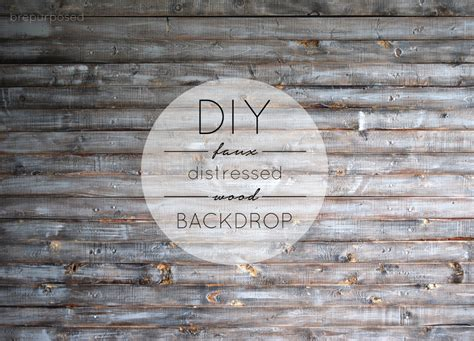 Faux Distressed Wood Diy