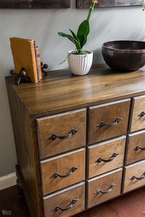 Faux Diy Card Catalog