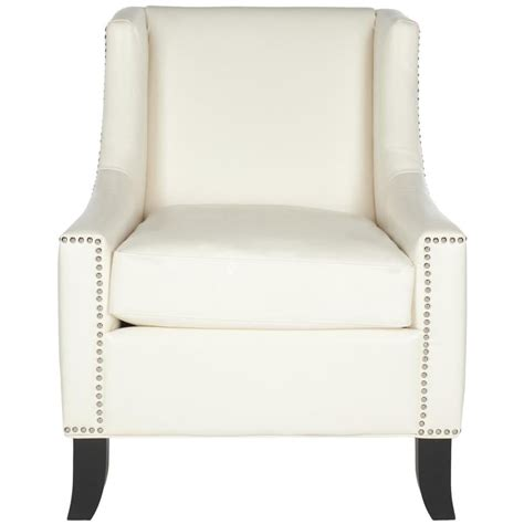 Faux Leather Offwhite Accent Chairs
