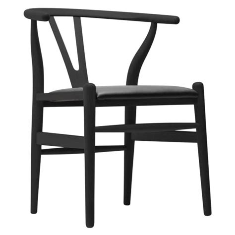 Faux Leather Wishbone Dining Chair