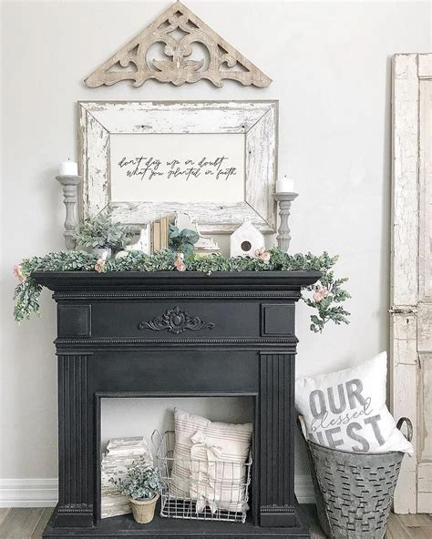 Faux Mantel Decor