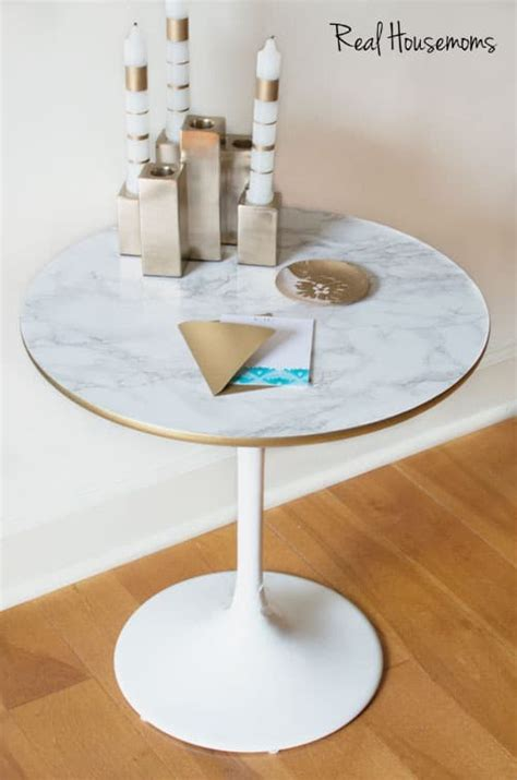 Faux Marble Table Diy Pipe