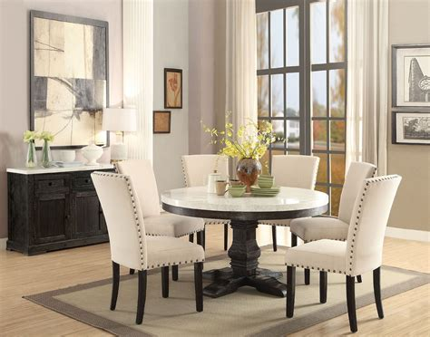 Faux Marble Table Top Dining Sets