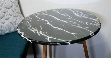 Faux Marble Table Top Diy