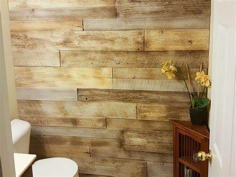Faux Paneling Weathered Wood DIY