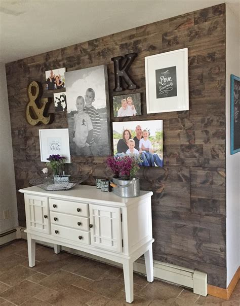 Faux Reclaimed Wood Wall DIY
