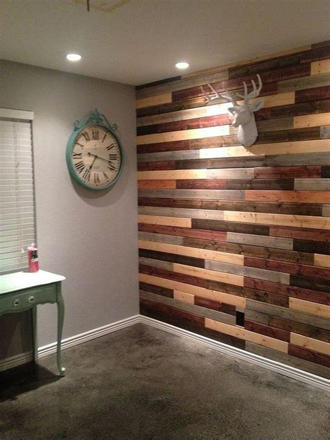 Faux Reclaimed Wood Wall Diy Pinterest