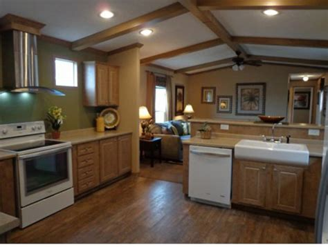 Faux Wood Ceiling Beams In Mobile Home