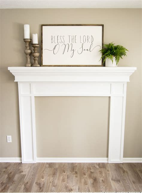 Faux Wood Mantel Diy