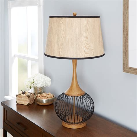 Faux Wood Table Lamp
