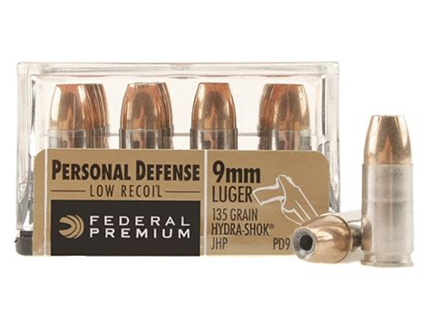 Federal Personal Defense Low Recoil 9mm Luger 135 Grain .