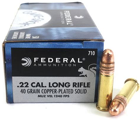 Federal Game Shok 22 Long Rifle Ammo 40 Grain Copper And Fiocchi Super Match 22 Long Rifle Sm 320