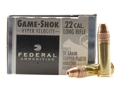 Federal Gameshok 22 Long Rifle Hyper Velocity 31 And German Sport Guns 1911 22 Long Rifle