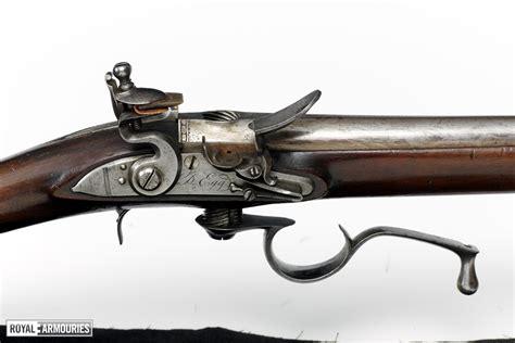 Ferguson Flintlock Breech Loading Rifle And Looking Through A Rifle Scope