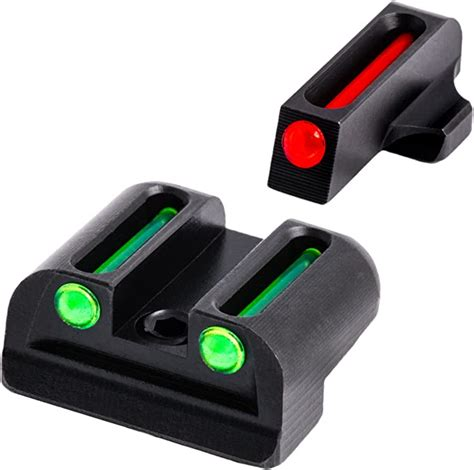 Fiber Optic Handgun Sights And 380 Handgun Ammo