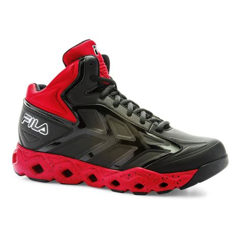 Fila Black And Red Sneakers