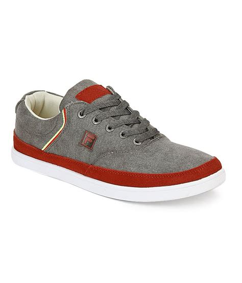 Fila Hidal Grey Canvas Sneakers