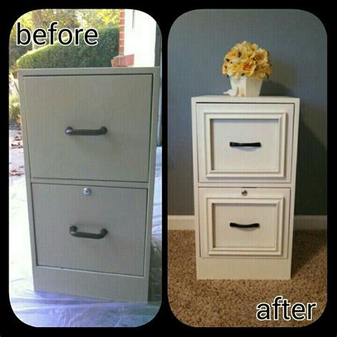 File Cabinet Nightstand DIY