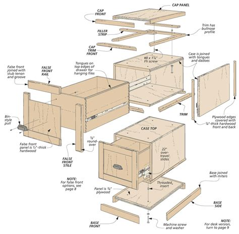 File Cabinet Woodworking Plans