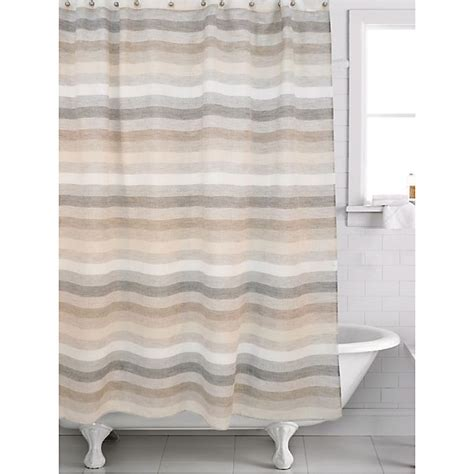 Filler Horizon Shower Curtain